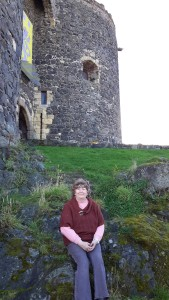 Patty in front Castle