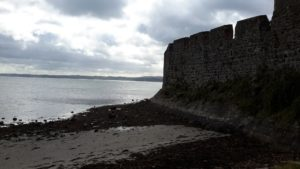 Carrickfergus castle outside