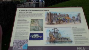 Carrickfergus sign on town