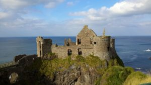 Dunluce Castle outside
