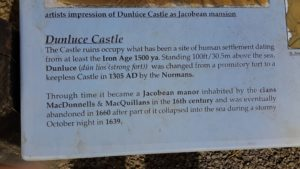 Dunluce Castle sign